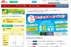 A8.net管理画面